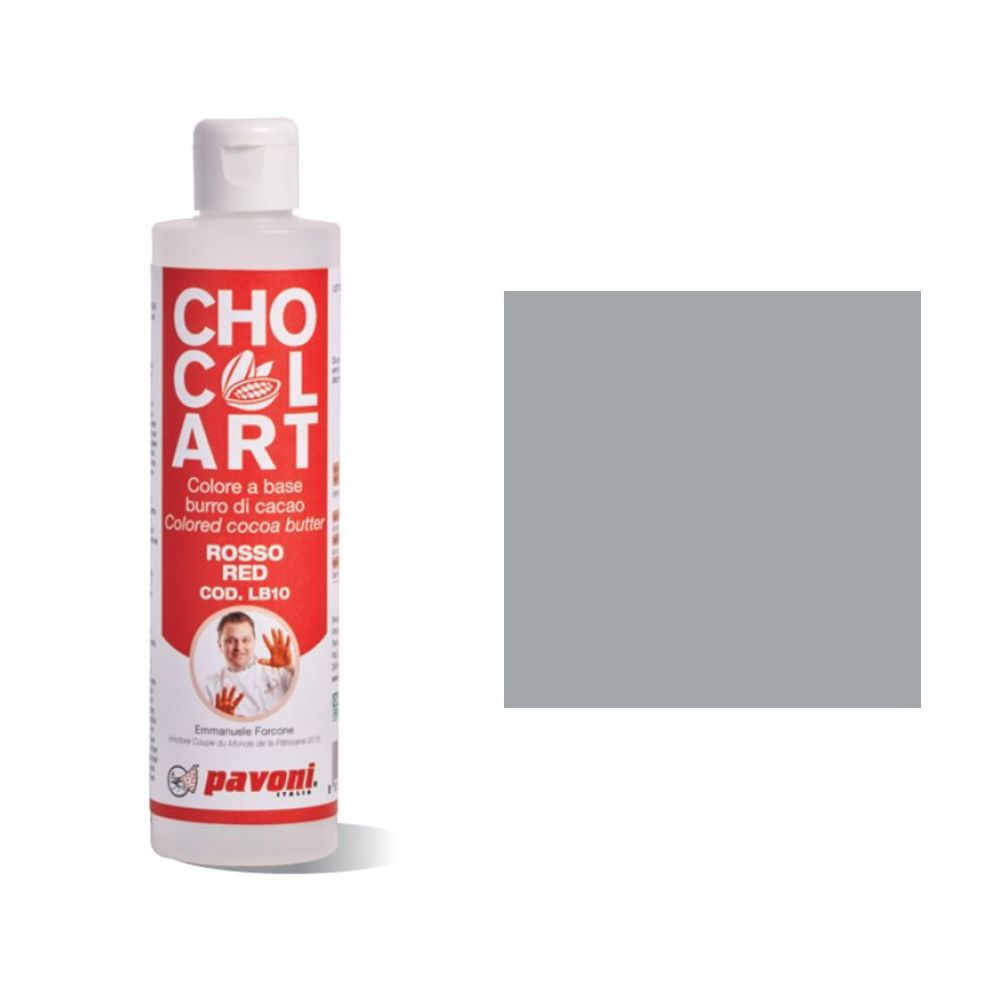 Kakaobutter Farbe Silber    Pavoni CHOCOLART LB13