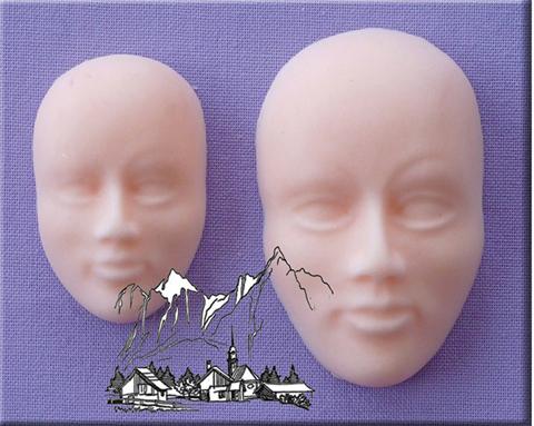 Silikonform Gesicht