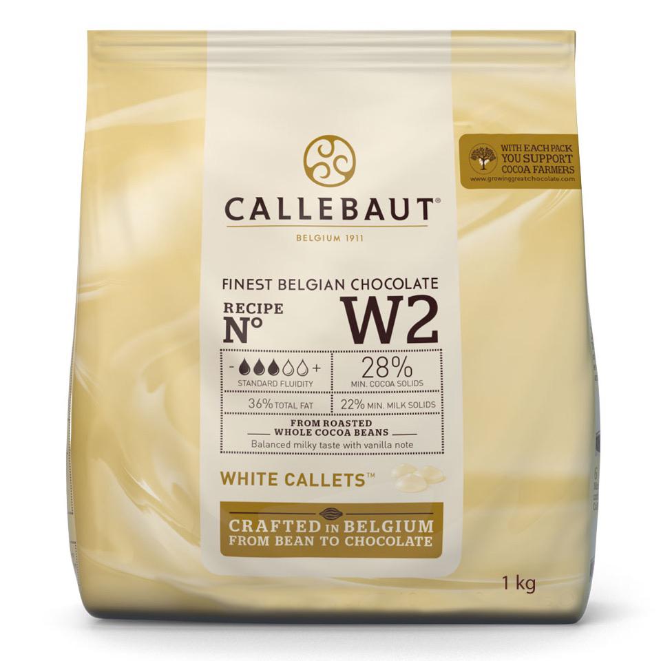Callebaut Callets 1kg 28 % - weisse Kuvertüre