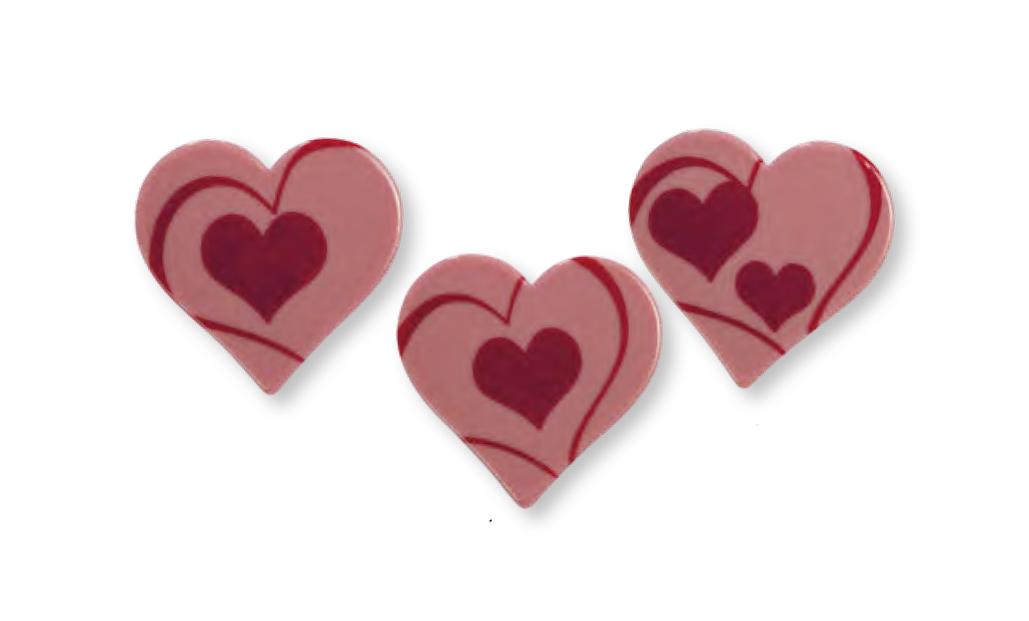Herzen Ruby Schokolade sortiert | 160 Stk.