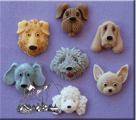 Silikonform Hundeköpfe