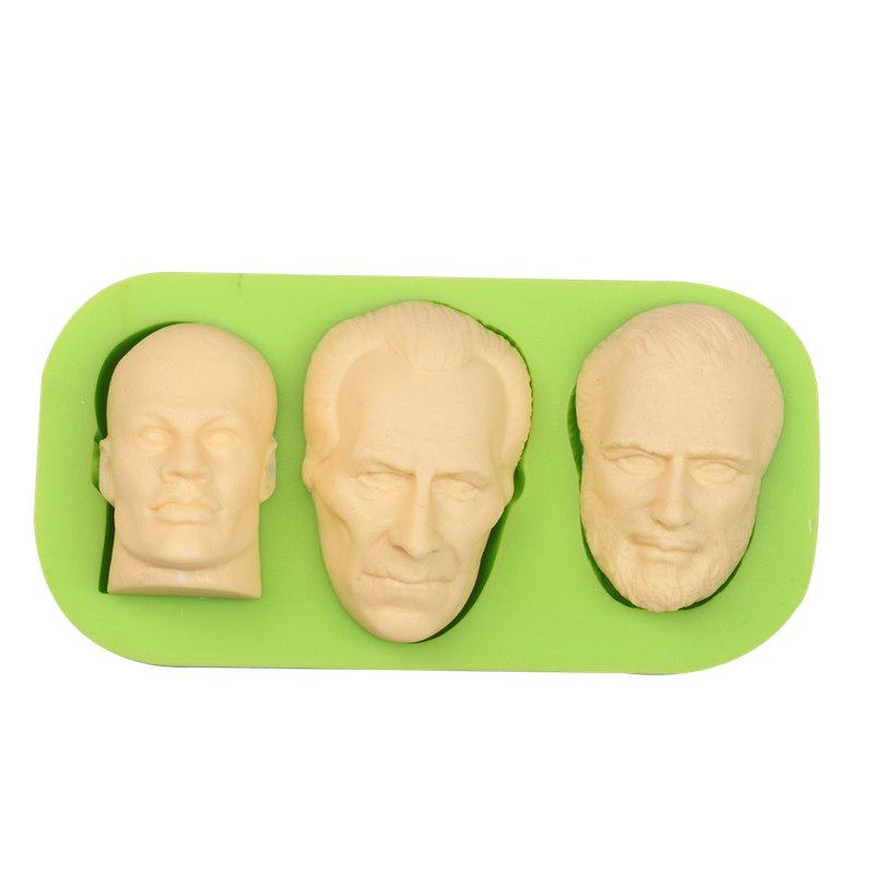 Silikonform Gesicht - Männer