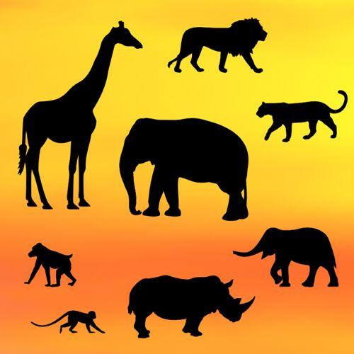 Ausstecherset Safari Silhouette