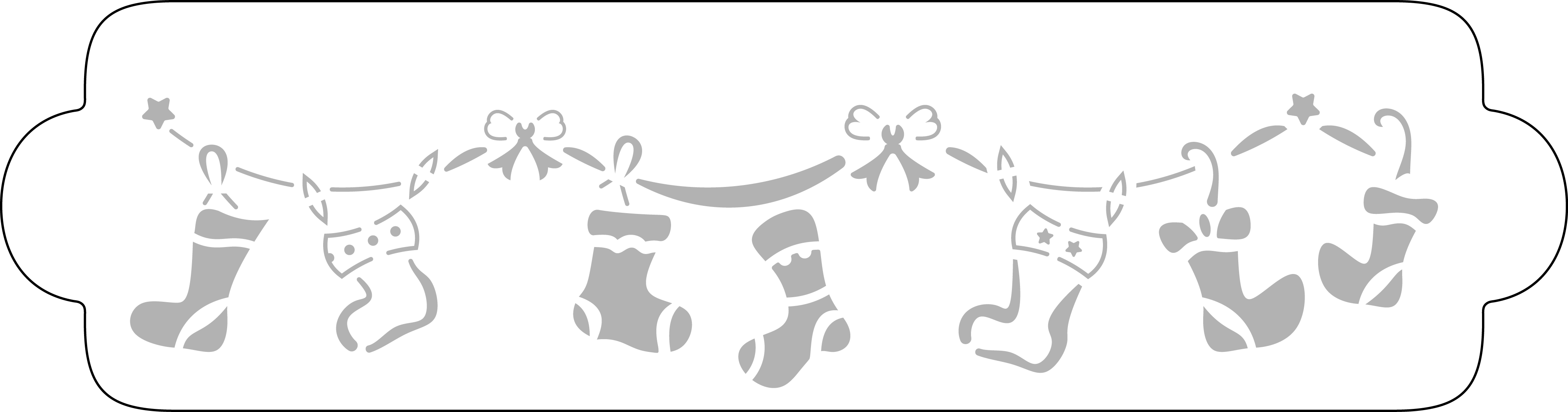 Schablone Weihnachtsstrümpfe