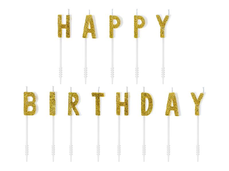 """Geburtstagskerzen """"Happy Birthday"""" 13 Stk."""