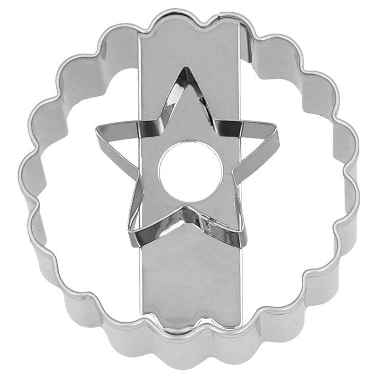 Linzer Ausstecher Stern   5 cm