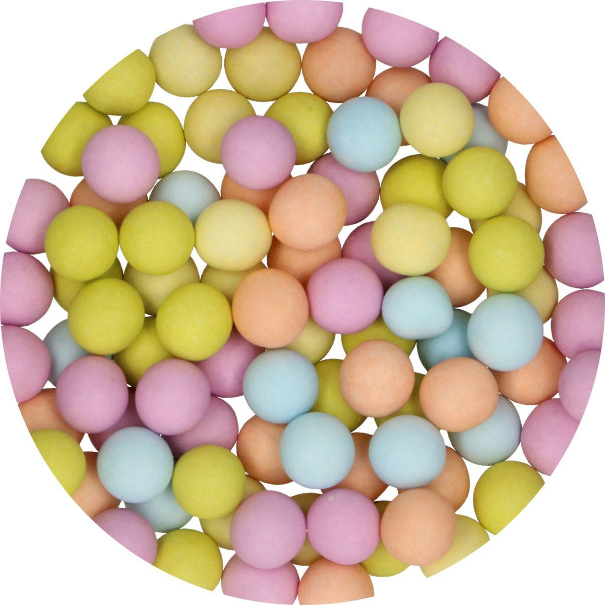 Candy Schoko Perlen Mix groß matt   70 g