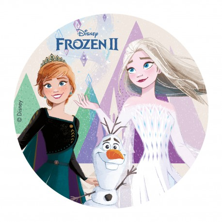 Tortenaufleger Elsa Anna Olaf | Frozen II Eiskönigin Oblate