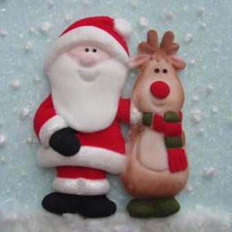 Karen Davies Silikonform - Santa & Rudolf