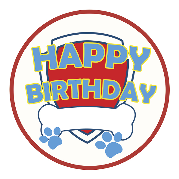 "Tortenaufleger ""Happy Birthday"""