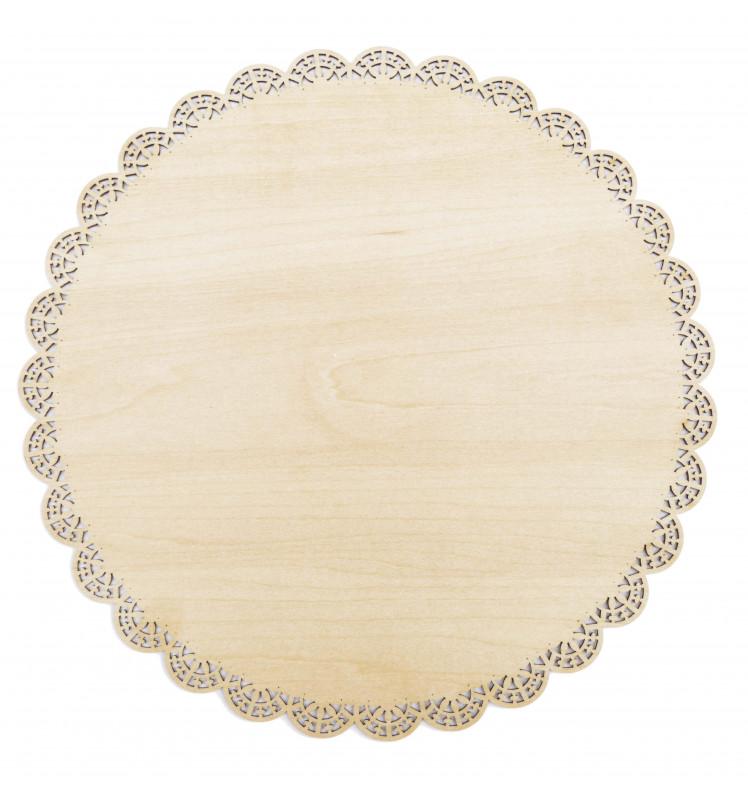 Tortenplatte 29 cm Holz