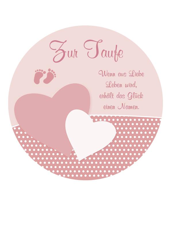 "Tortenaufleger ""Zur Taufe"" rosa"