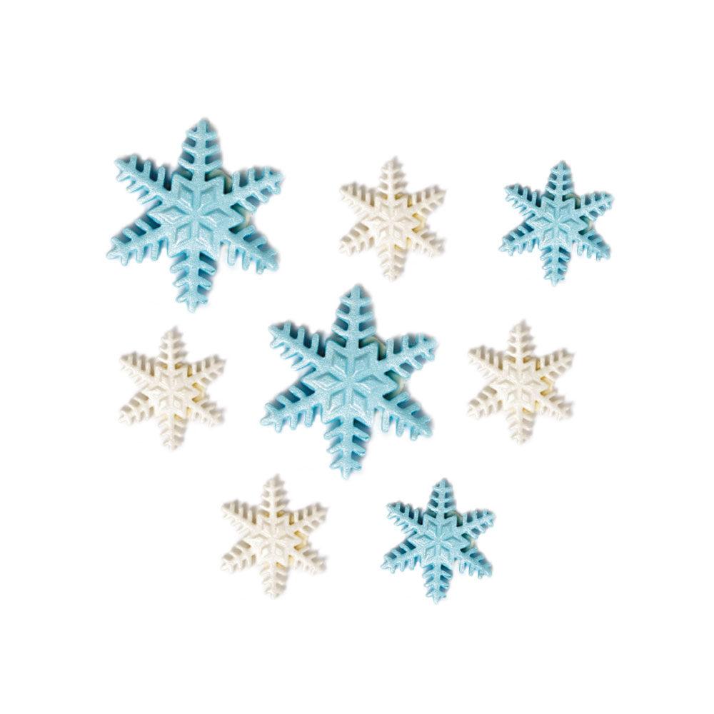 Eiskristalle Frozen Schneeflocken aus Zucker