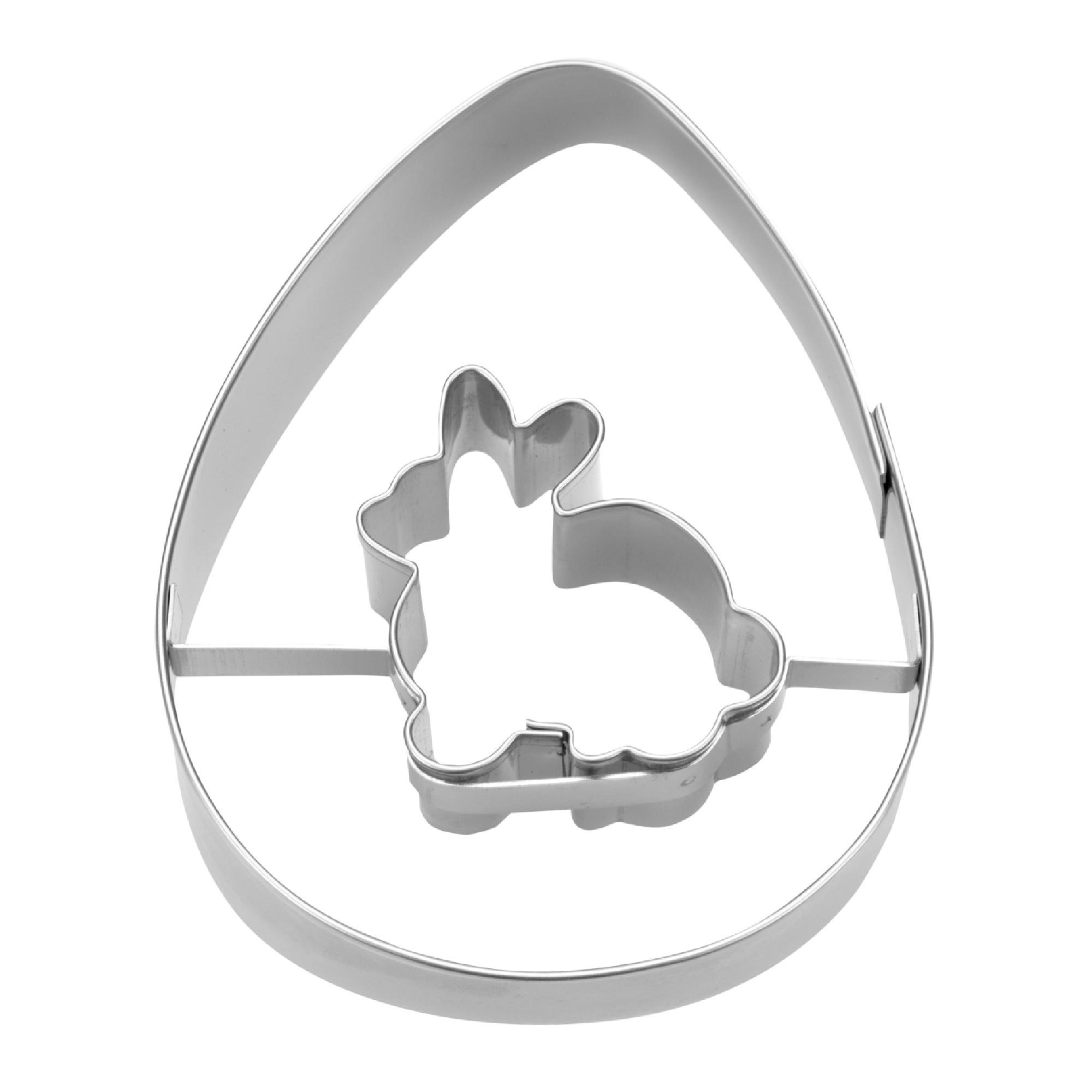 Ausstecher Ei mit Hase7cm