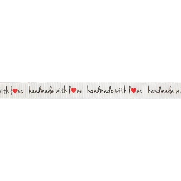 Stoffband Handmade with love