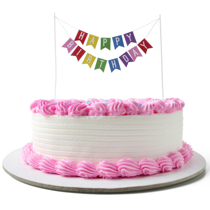 Cake Topper - Happy Birthday Wimpelkette