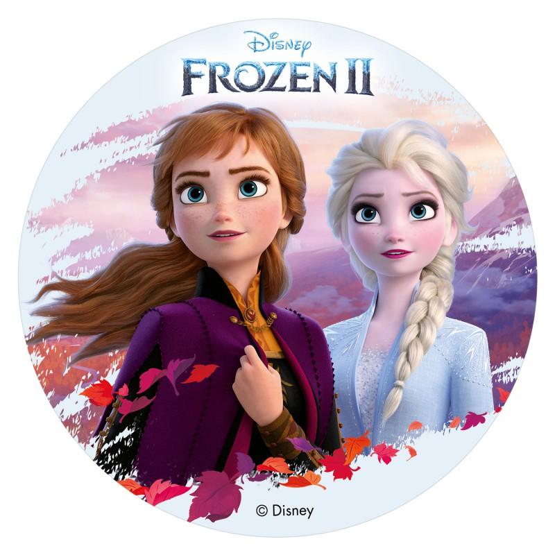 Tortenaufleger Elsa & Anna Frozen II Eiskönigin | 20 cm
