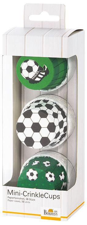 Muffinförmchen Cupcakeförmchen Fußball Ø 5 cm