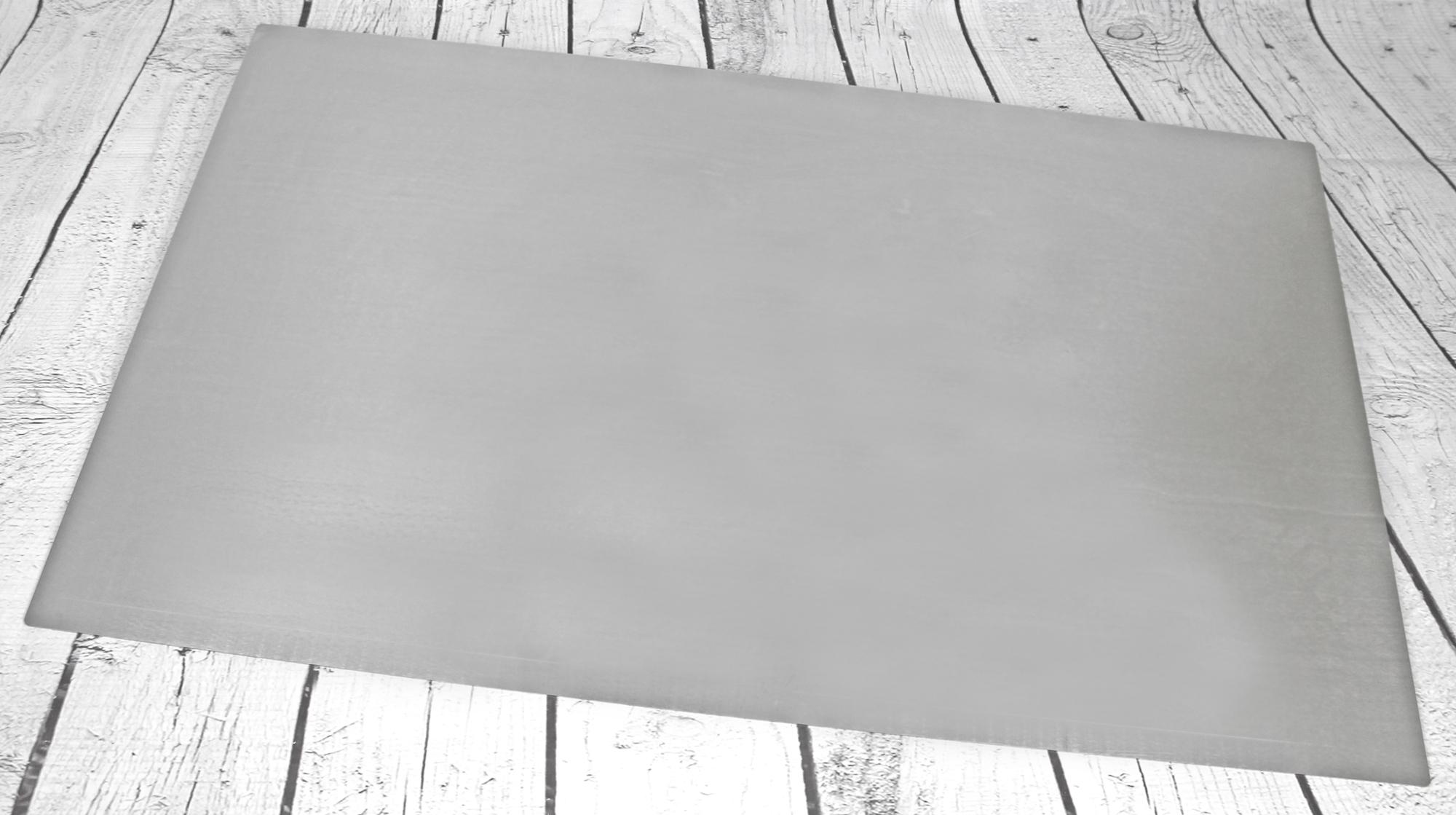 Arbeitsplatte Tortenplatte Edelstahl V2A Backunterlage 74x49 cm