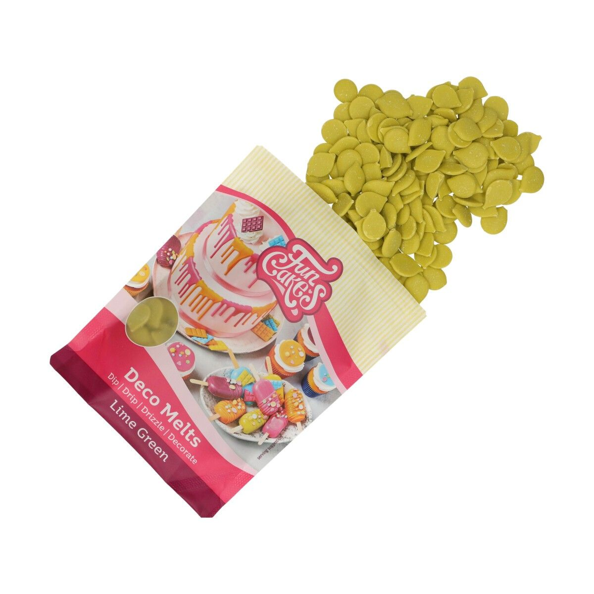 Funcakes Deco Melts Limettengrün 250 g