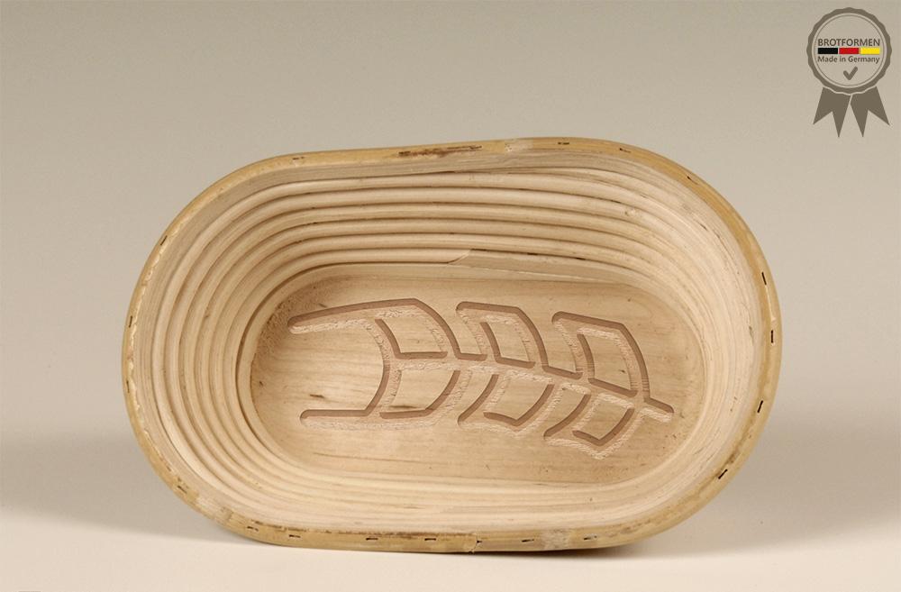Gärkörbchen Oval mit Motiv ÄHRE (750 g)