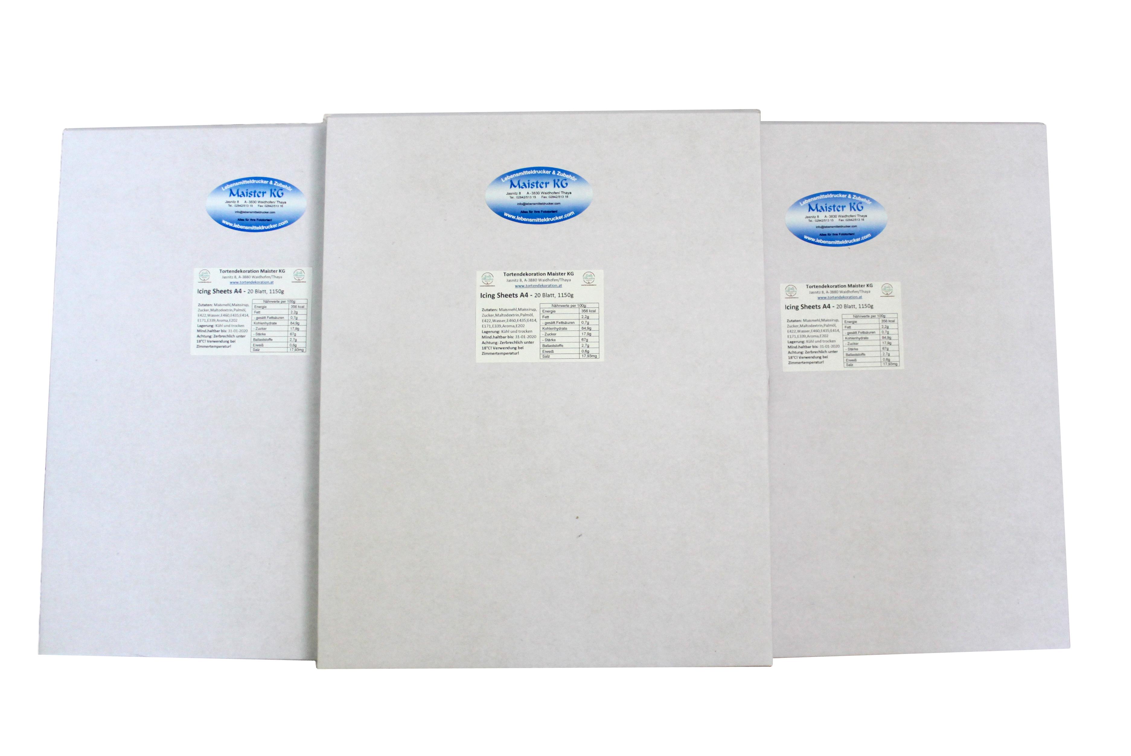 Icing Sheet A4