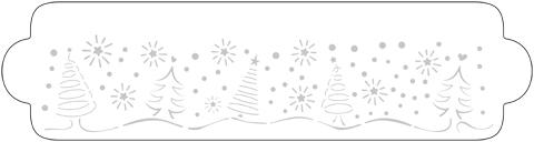 Schablone Weihnachtsbäume