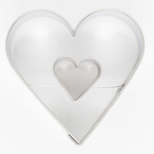 Keksausstecher Herz in Herz 4,5 cm