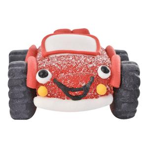 Auto/Geländewagen rot aus Gelee und Zucker