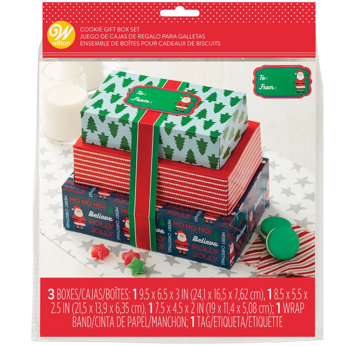 Geschenkschachteln Set Weihnachtsmann