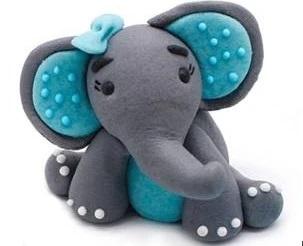 Dekoration Marzipan Elefant rosa