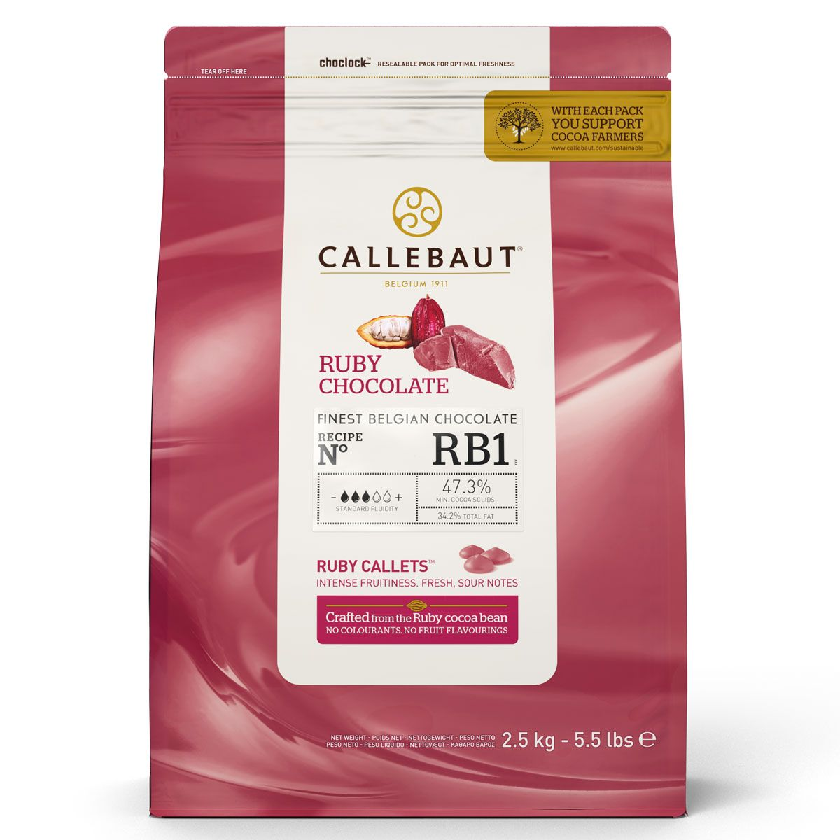 Callebaut Callets 2,5kg  47,3 % Ruby