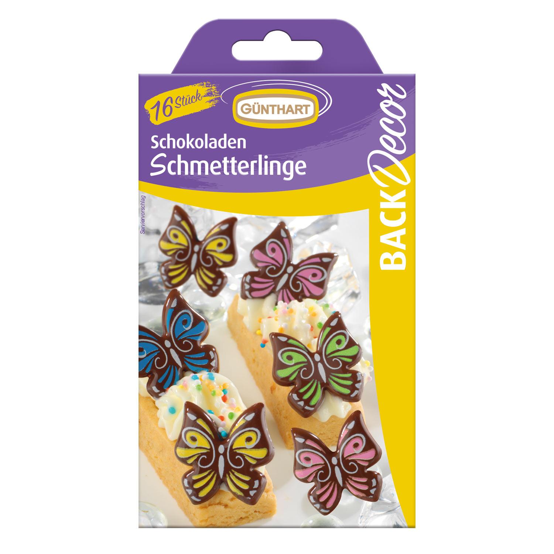 Schmetterlinge, dunkle Schokolade 16 Stk.