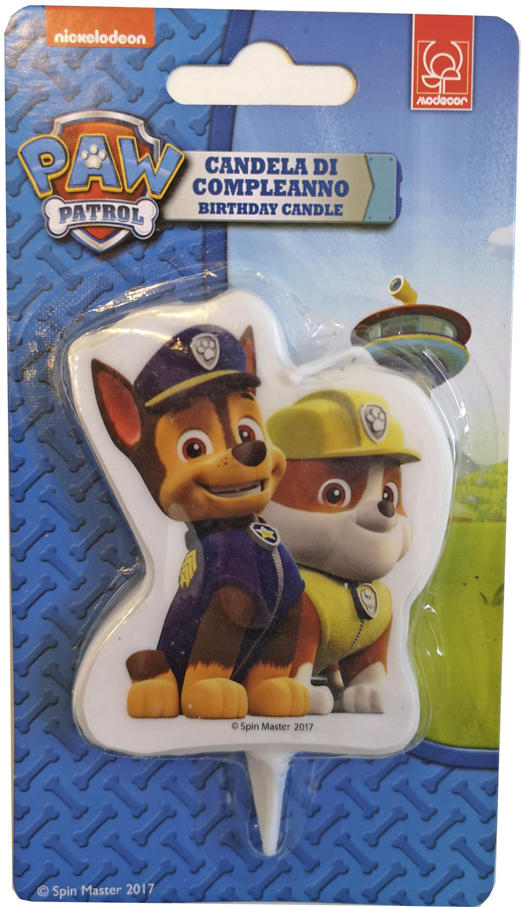 Paw Patrol Kerze   Chase & Rubble
