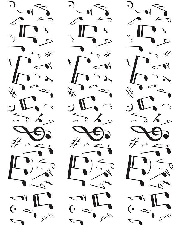 Tortenband Musiknoten