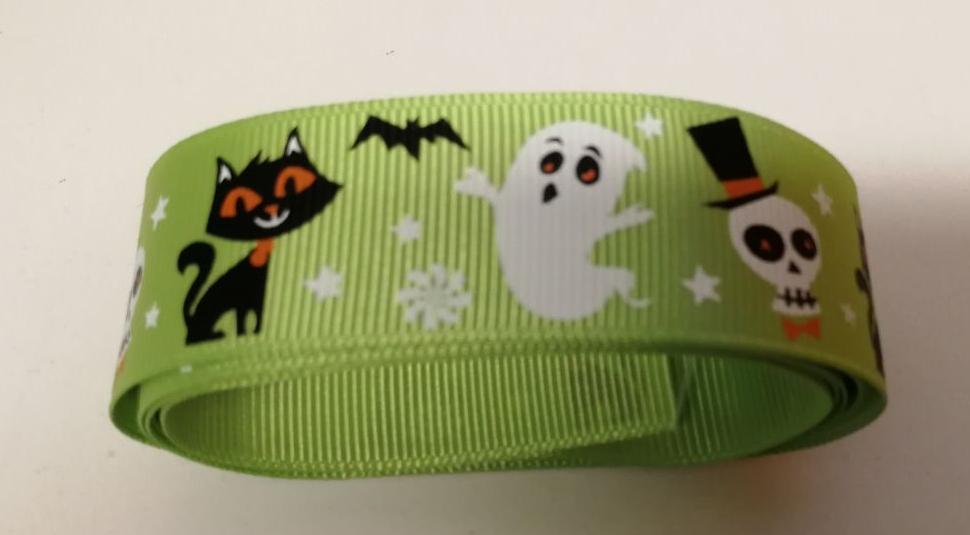 Tortenband Geister, Katzen und Totenköpfe