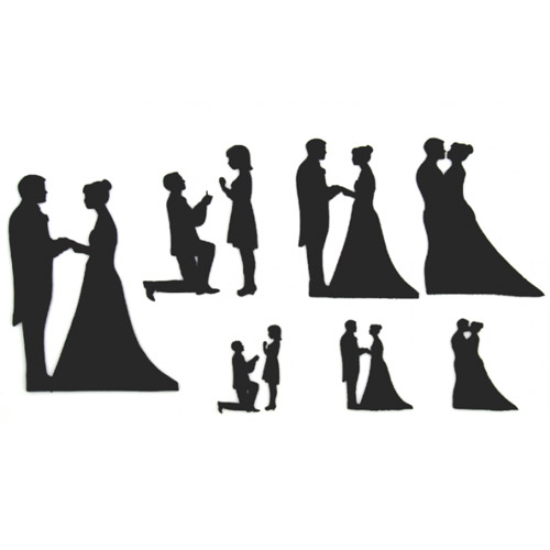 Brautpaar Silhouette Set