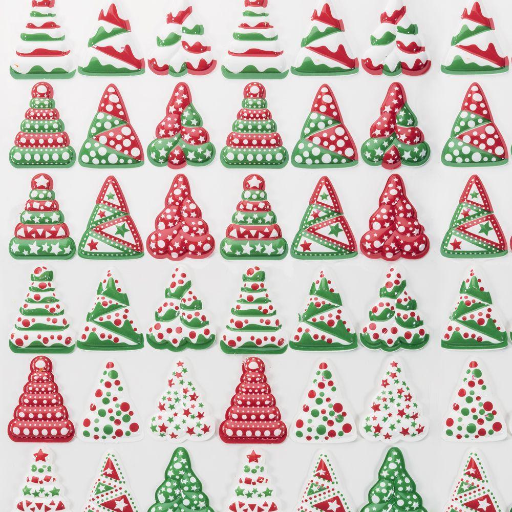 Pavoni Schokoladen Gussform T855 Weihnachtsbäume mit Transferfolie