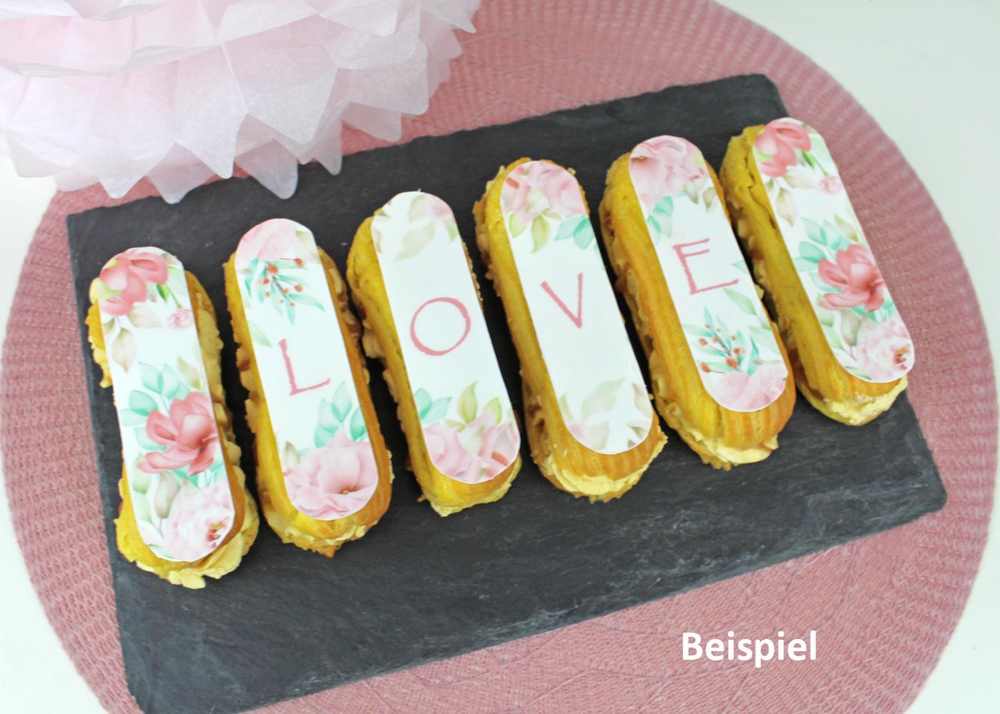 Zuckeraufleger Geburtstag für Eclairs | Oblong Desserts