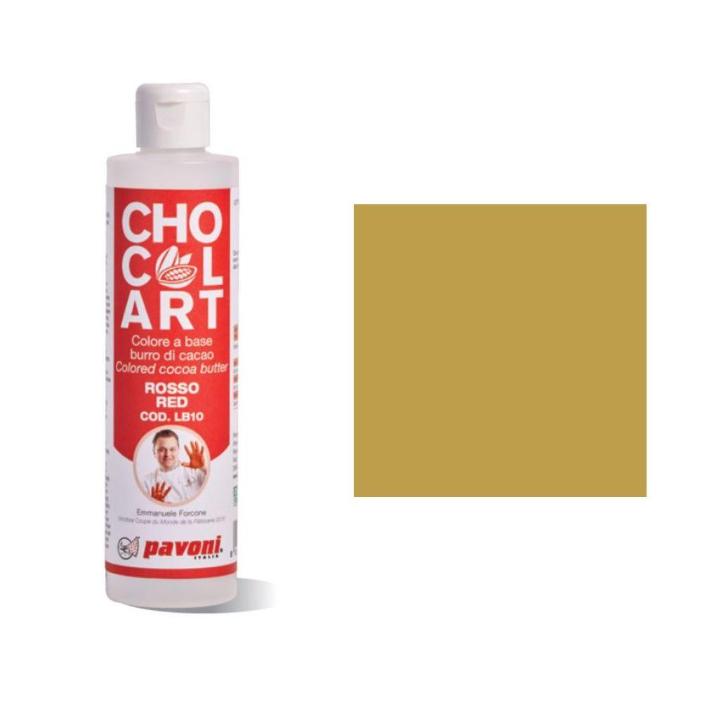 Kakaobutter Farbe Gold   Pavoni CHOCOLART LB12