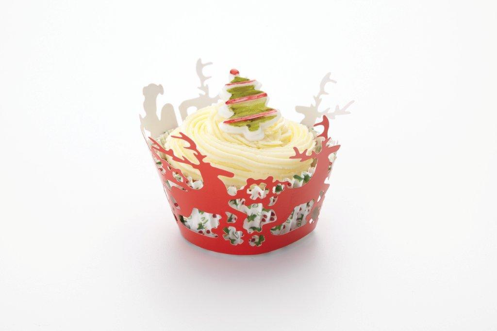 Cupcake Wraps / Umrandungen Rentiere