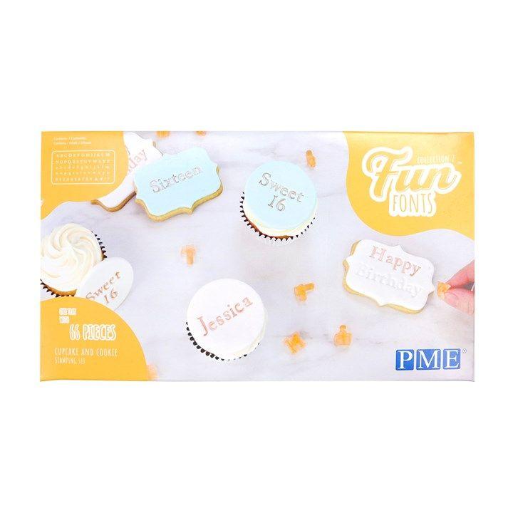 PME Buchstaben Präger Fun Fonts | Cookies & Cupcakes Collection 2