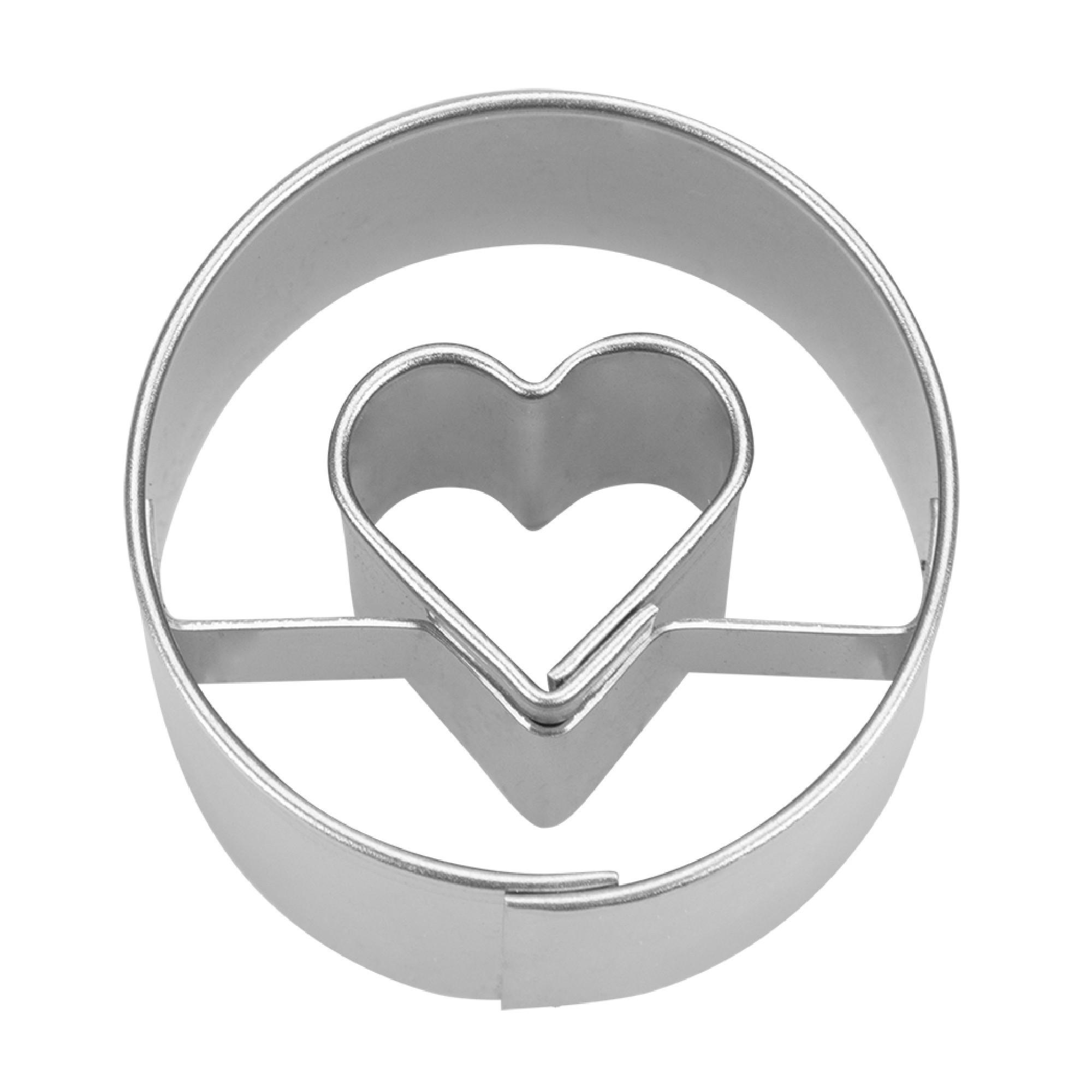 Ausstecher Herz in Ring 3 cm
