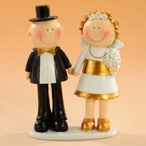 Brautpaar Hochzeit gold