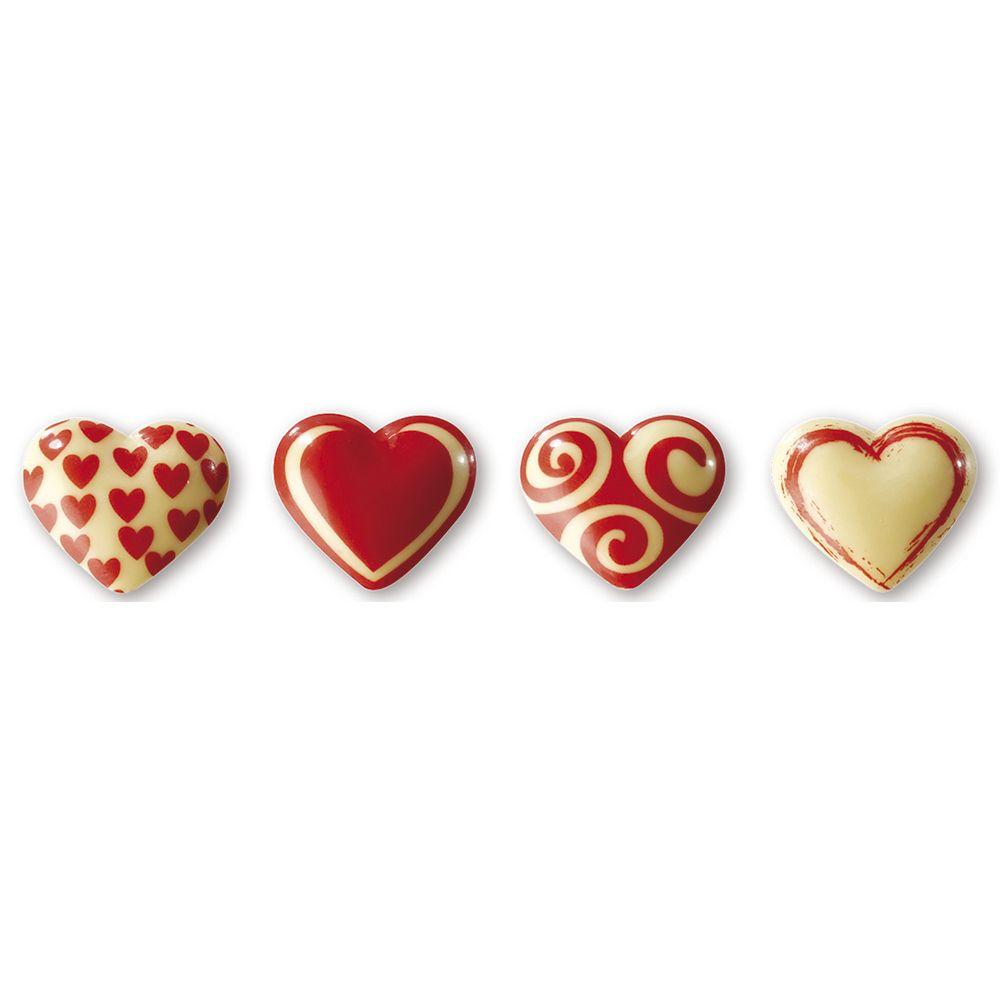 Schokoladen Transferfolie Herzen | Pavoni T821