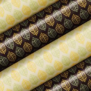 Schokoladen Transfer- Abziehfolie Blätter