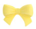 Schleife aus Zucker gelb 5er Set