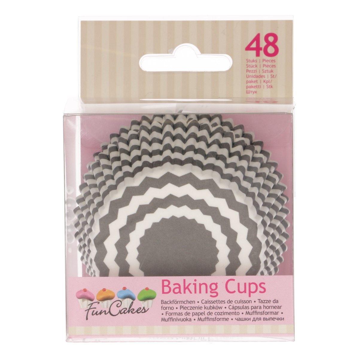 Cupcake Backförmchen Set grau gemustert