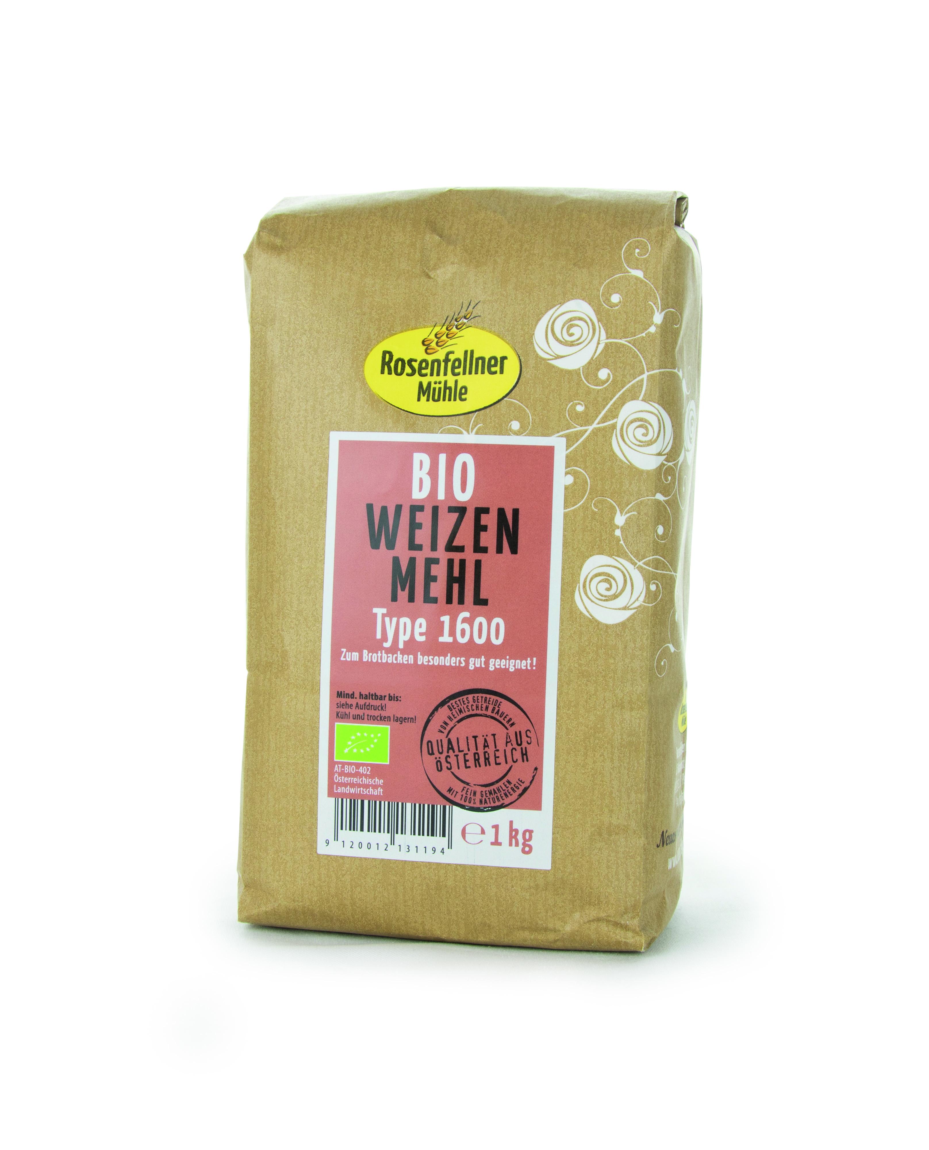Bio Weizenbrotmehl 1600 1kg