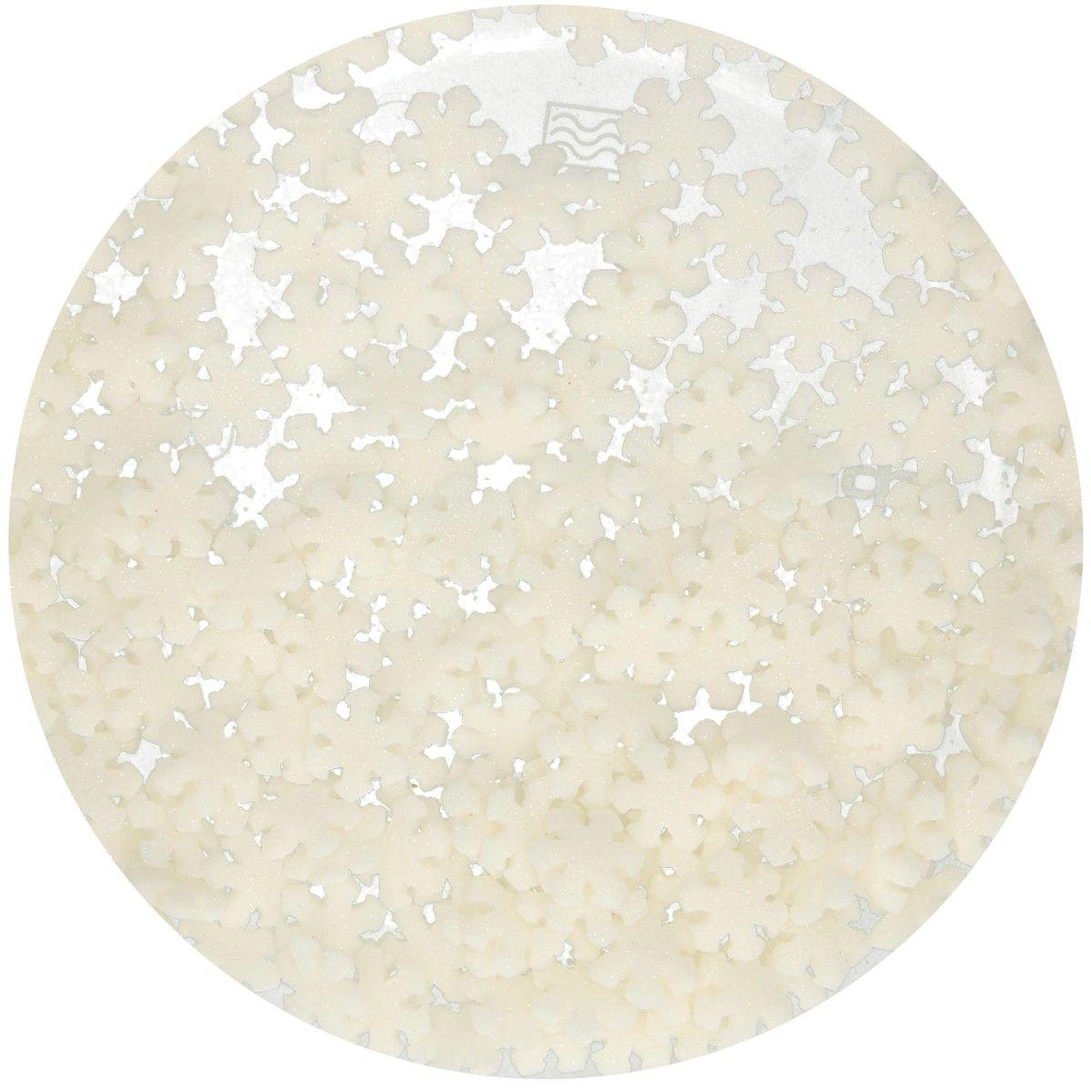 FunCakes Glitter Schneeflocken weiß 50g
